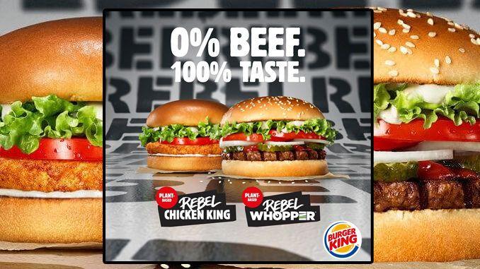 El nuevo menu 50/50 de Burger King en Suecia promueve sus 2 nuevas hamburguesas vegetales
